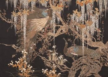 17後期:藤に孔雀図壁掛s.jpg