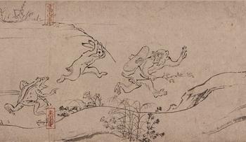 ⑭国宝 鳥獣人物戯画(甲巻)部分後期s.jpg