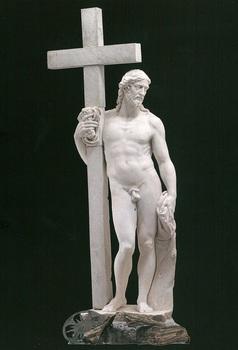 ミケランジェロ・ブオナローティ「十字架を持つキリスト」像s.jpg