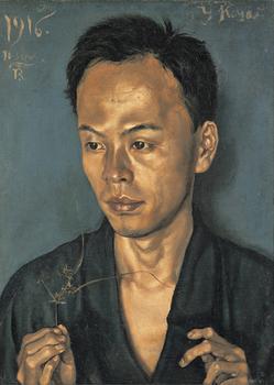 劉生《古屋君の肖像(草持てる男の肖像)》1916年.jpg
