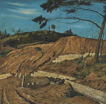 椿《赤土の山》1915年.jpg