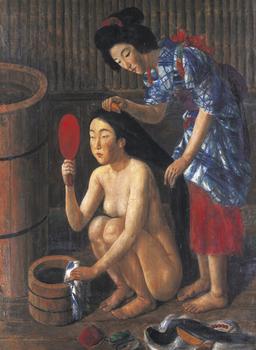 椿《髪すき図》1931年.jpg