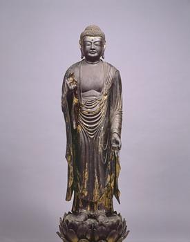 13重文 阿弥陀如来立像(阿弥陀寺蔵、大津市歴史博物館).jpg