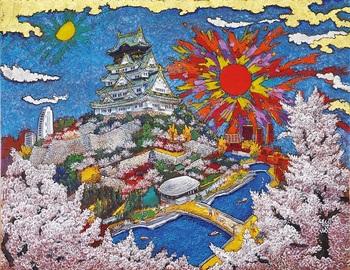 ⑦大阪城満開日乃出_Sunrise at Osaka Castle with Cherry Blossoms in Full Bloom.jpg