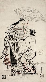 6 鳥居清倍《雪中傘を差す遊女と侍女》1950.148.jpg